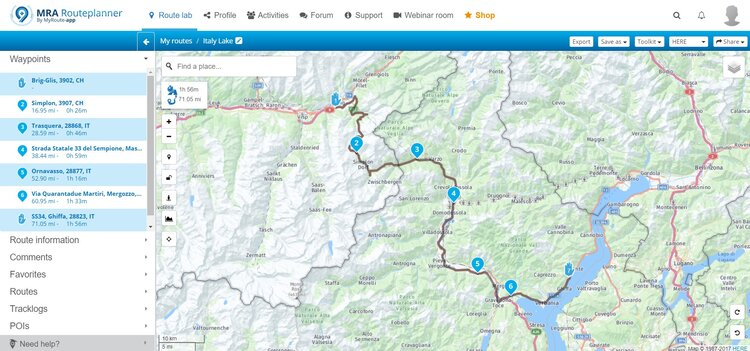 merging routes - motorcycle route planner