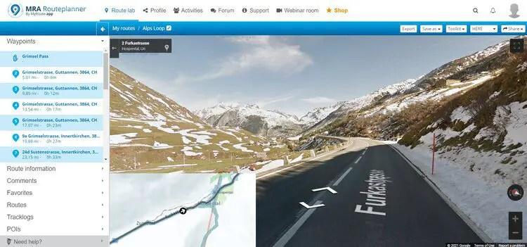 furka pass streetview mode