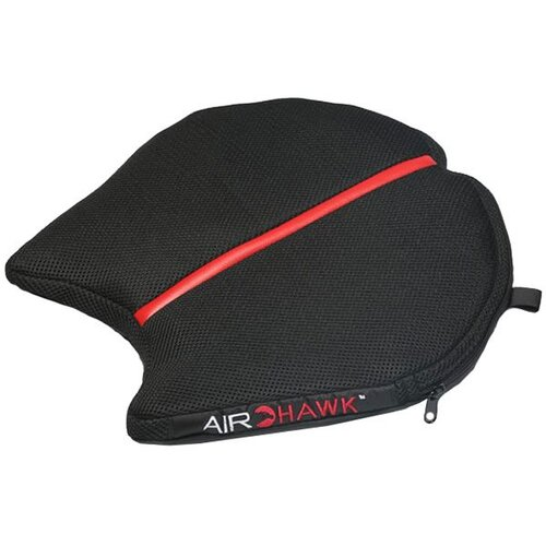 airhawk motorcycle seat pad black and red