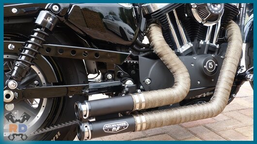 motorcycle exhaust wrap cruiser