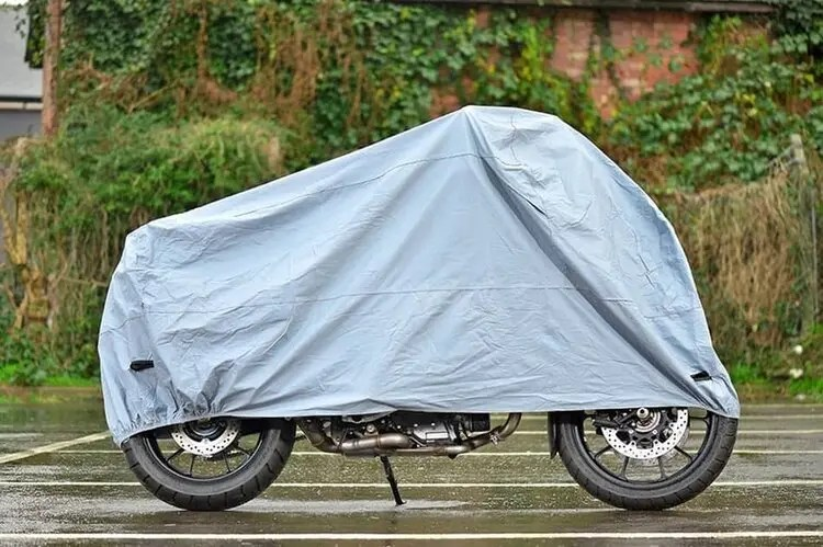 motorcycle covered up