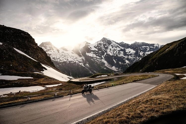 motorcycle on grossglockner - motorcycle travel