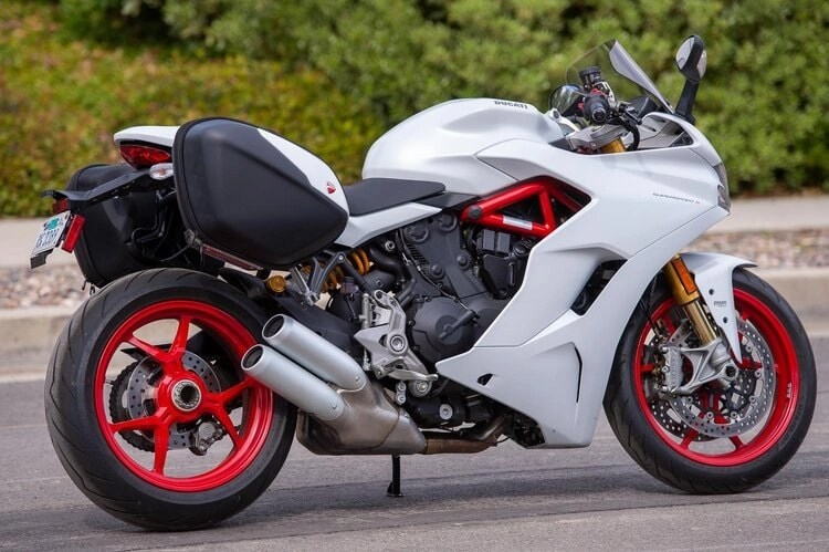 ducati supersport with panniers