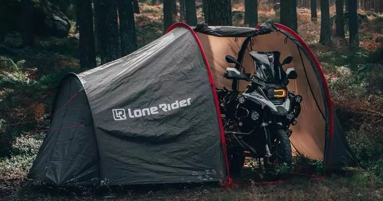 lonerider motorcycle tent and bmw