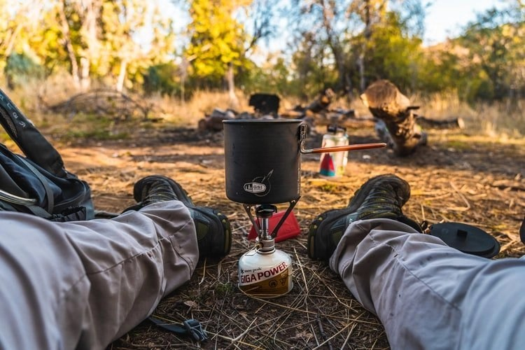 motorcycle camping food - title