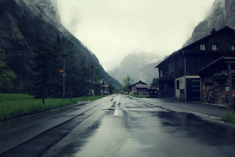 raining in the alps
