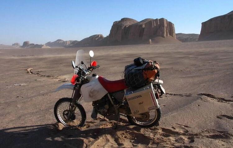 off-road motorcycle in desert