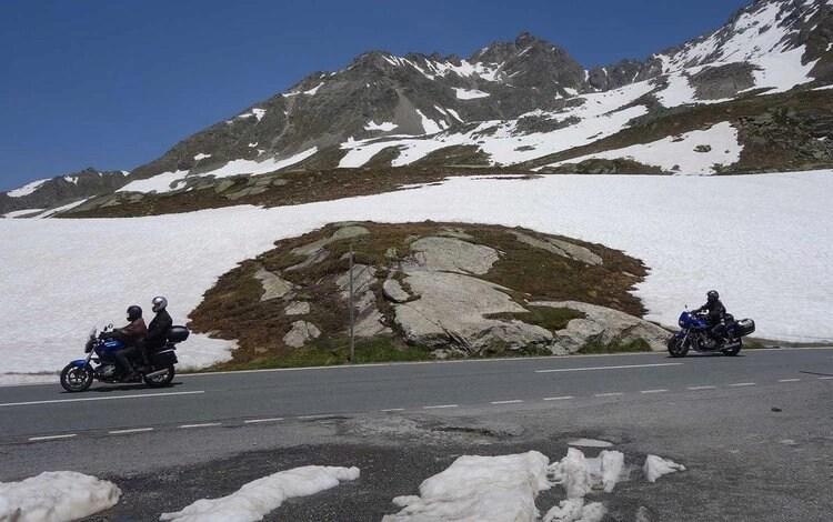 snow when riding susten pass
