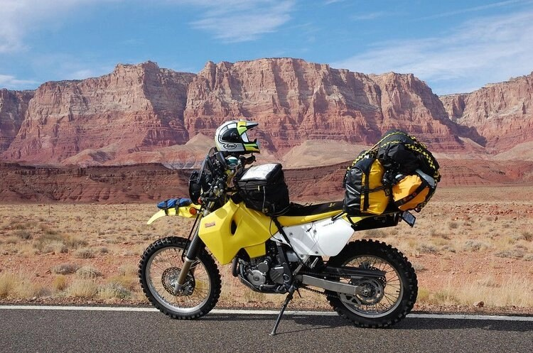 off-road motorcycle round the world