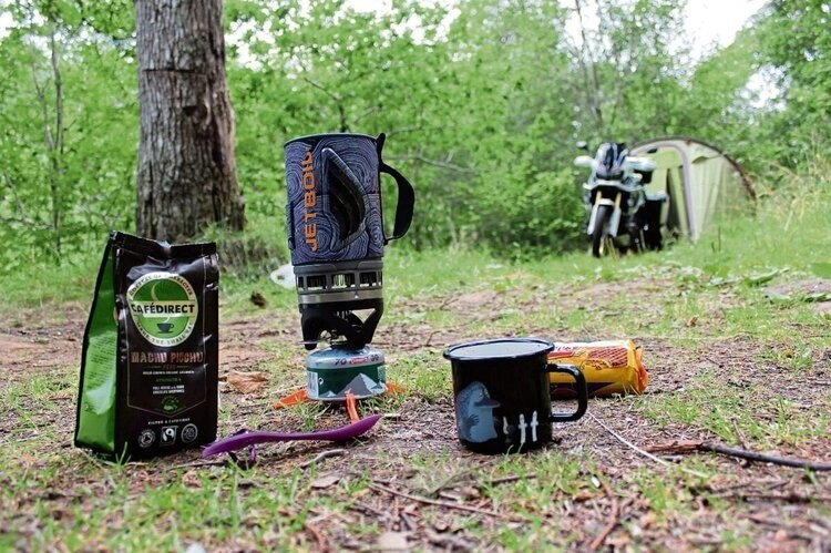 jetboil food and coffee - how to motorcycle camp