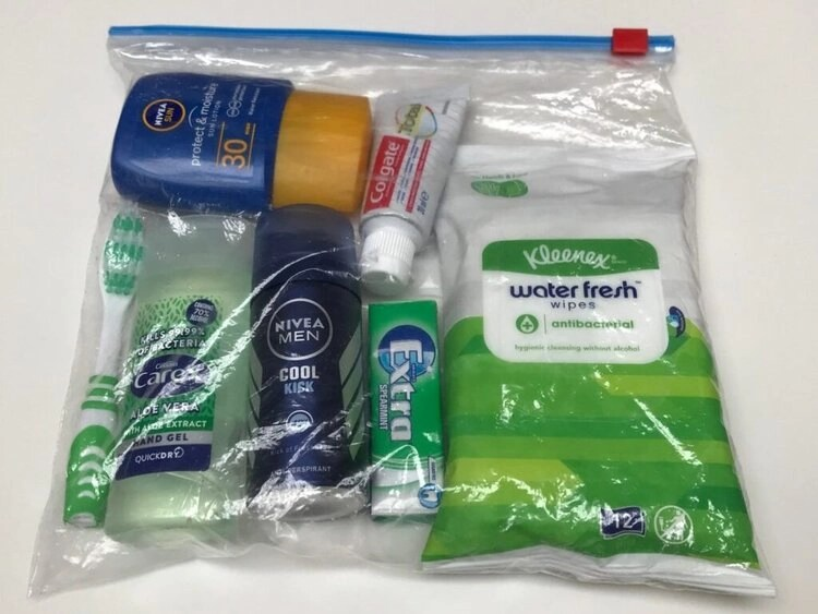 toiletries for camping
