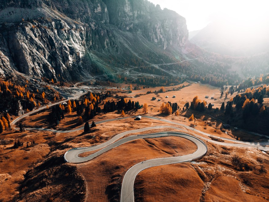dolomites - motorcycle touring miles per day