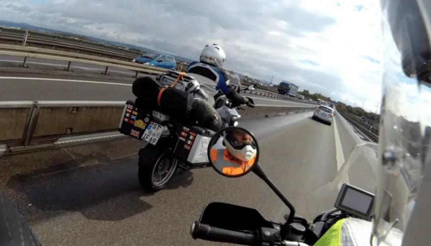 motorway riding - motorcycle touring miles per day
