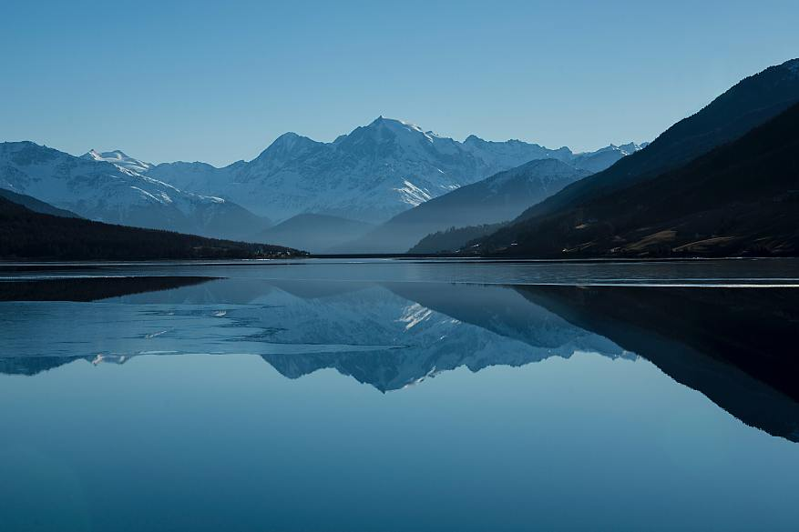mountain view and reflection