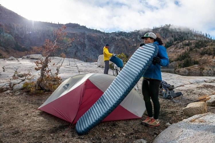 inflatable air mattress - sleeping mats & pads for motorcycle camping