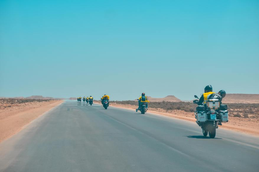 best touring motorcycle - group of bikers