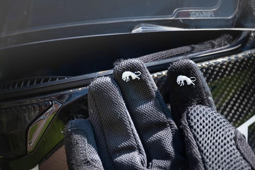 Furygan TD12 summer motorcycle gloves - detailing