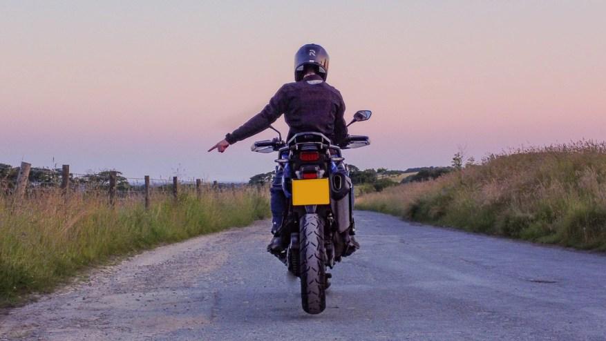 motorcyclist drop off