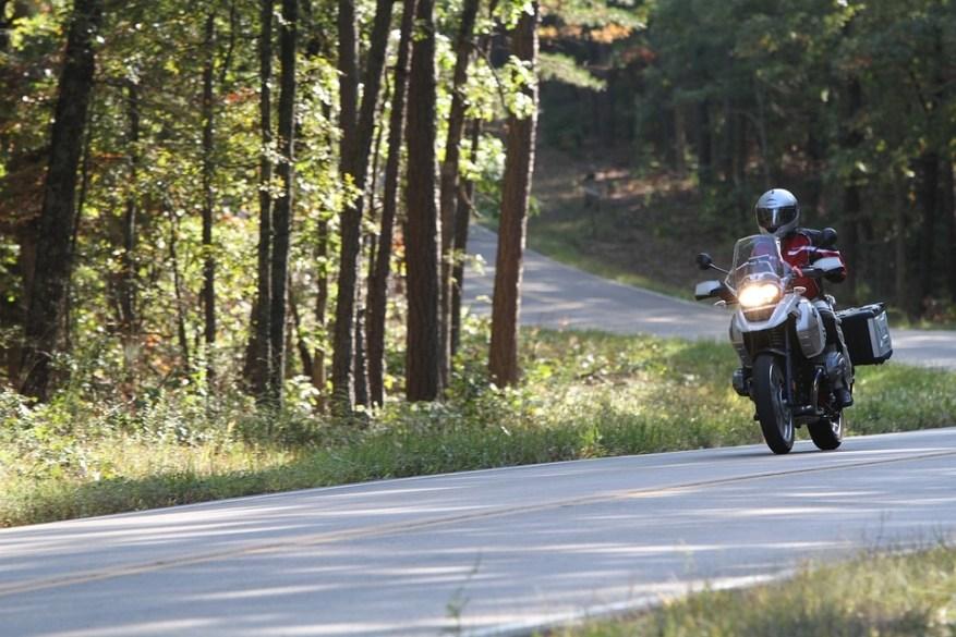 bmw motorcycle twisty road