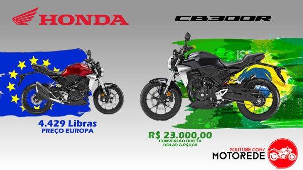 Nova CB 300R Preço na Europa