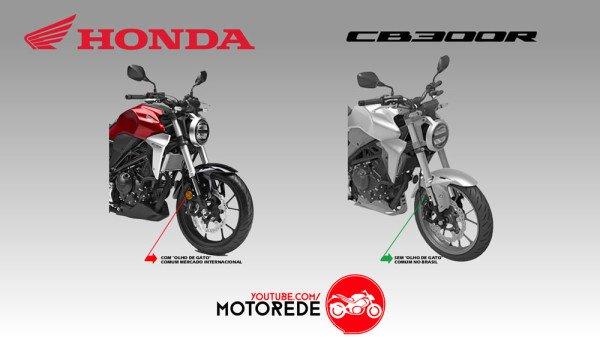 Nova CB 300R Imagem de Registro Honda Brasil Compartivo
