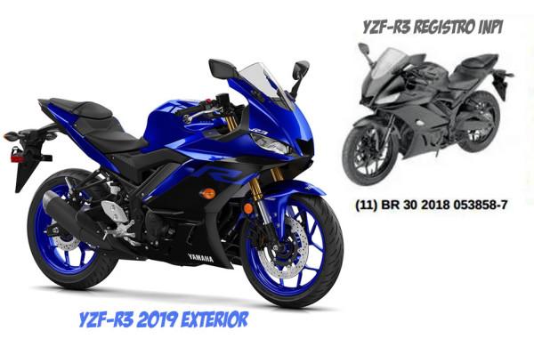 Nova Yamaha R3 Registrada na Brasil