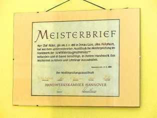 Meisterbrief Motorenservice Motoreninstandsetzung Dresden