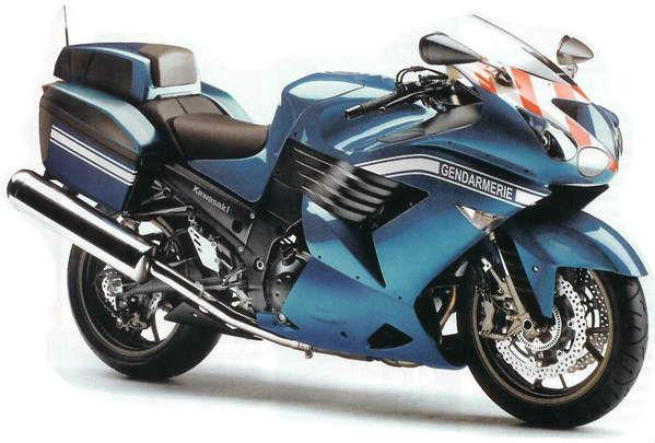 Politiemotor Kawasaki-ZZR1400-Gendarmerie