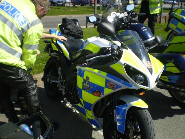 Politiemotor Yamaha R1