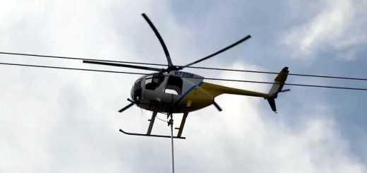 helicoptero e moto serra