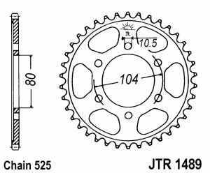 JT Kettenrad Stahl, Teilung 525, 1489