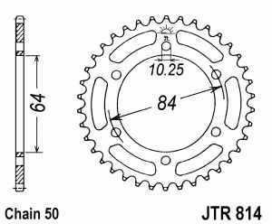 JT Kettenrad Stahl, Teilung 530, 814