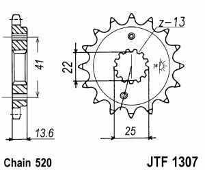 Kettenritzel ZX-6RR / XR650R