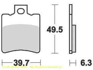 Benelli 491 50 Bremsbeläge
