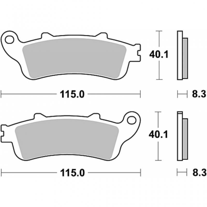 Honda Deauville 650 Bremsbeläge