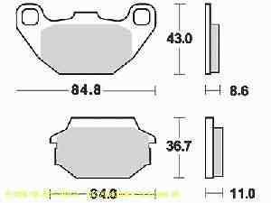 Kymco Super 8 125 Bremsbeläge