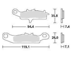 Kawasaki KFX 700 Bremsbeläge