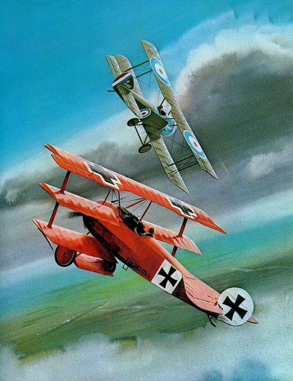 Fokker Dr1 in battaglia