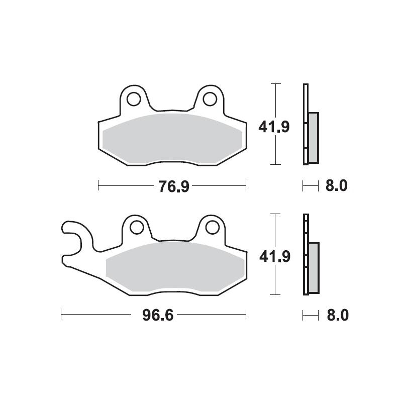 Pastillas de Freno para Triumph Scrambler 900 Juego