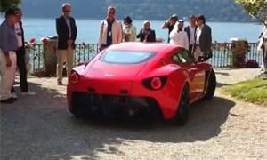 Aston Martin V12 Zagato at the 2011 Concorso d'Eleganza Villa d'Este Video
