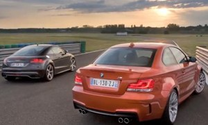 Audi TT-RS vs BMW 1 Series M on the Track Video