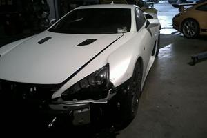 The first Reported Lexus LFA Crash