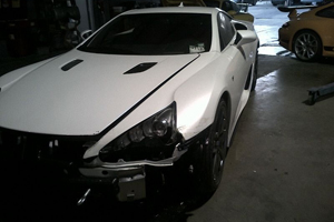 The first Reported Lexus LFA Crash