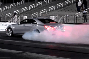 The RENNtech Mercedes CLS63 AMG takes on Godzilla – Video