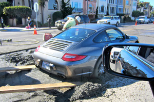 Friday Fail: The Porsche 911 Stuck in Cement