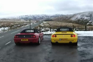 Two Ferrari F 355 Spyders create a V-8 symphony – Video