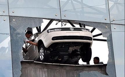 Test Drive Crash in China