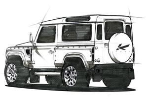 Kahn Land Rover Defender Concept 17 sketch