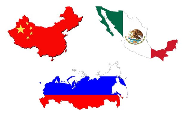 Russia, China, Mexico