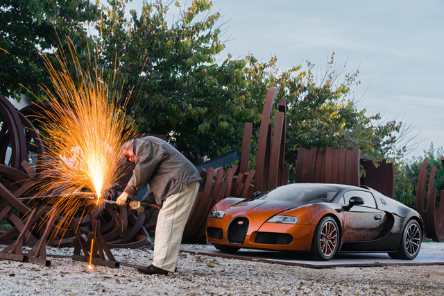 Bernar Venet Bugatti Veyron Grand Sport